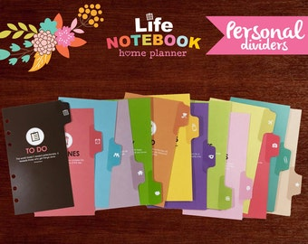 Life Notebook Planner Dividers: Personal Size