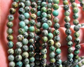 Turquoise - African - 6mm round - 1 full strand - 66 beads - RFG555