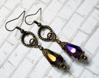 Amethyst Teardrop Earrings (3024)