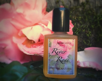 Perfume Natural RIVER ROSE rose absolute, geranium, rosewood, oakmoss, pink grapefruit, clove, nutmeg, vegetal ambergris