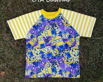Minions inspired T shirt kids size 6