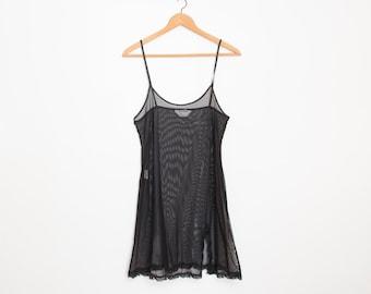 Slip on dress sheer black dead stock Vintage