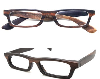 Love-wood Handmade Ebony Takemoto prescription customize  Eyeglasses