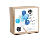 NEW!  Blue Party Balloons / Includes 3 Confetti Balloons / 12 count