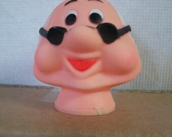 Funny Old Man or Dwarf Plastic Doll Head