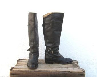 FRYE Boots Equestrian Style Buckled Boots Ladies Size 6
