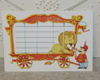 5 Childrens Post Cards Vintage 1980 Current, Inc Circus Lion in Cage unused