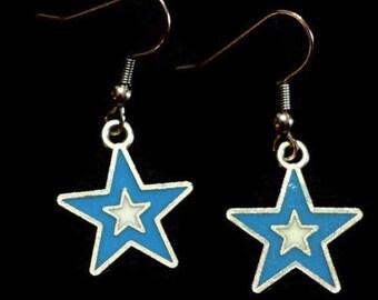 wish upon a star earrings Blue Star Charm Earrings - Womens Jewelry