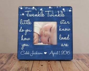 Twinkle Twinkle Little Star Personalized Picture Frame, Baby Shower Gift, Nursery Picture Frame