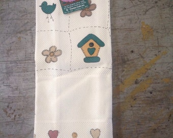 Charles Craft Birdhouses Cross Stitch Towel