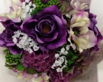 New Custom Lizzy Wisteria Bridal Flowers, Wisteria Bridal Bouquet, Wisteria Wedding Flowers, Wisteria Wedding Bouquet