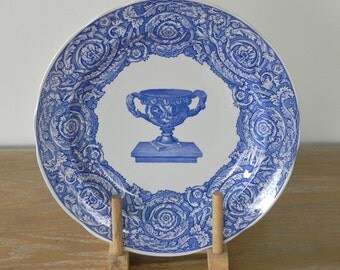 Spode Vintage Dinner Plate The Spode Blue Room Collection Warwick Vase Trophy Blue Vintage Plate Made In England Country Home City Home