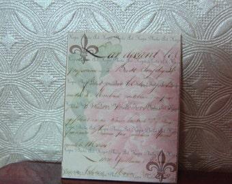 Miniature Dollhouse Sign Fleur di lis One Inch Scale 1:12