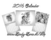Art Calendar 2016 Angel Nature Spiritual Butterfly Birds Wings Zindy