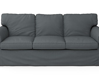 IKEA Ektorp 3 Seater Sofa Bed SLIPCOVER ONLY in Kino Charcoal fabric