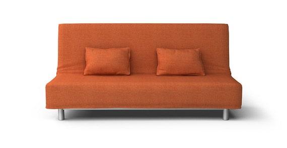 ikea beddinge sofa bed loose fit slipcover only in kino orange. Black Bedroom Furniture Sets. Home Design Ideas