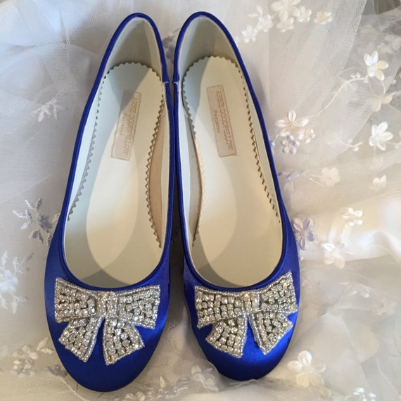 Items Similar To Sapphire Blue Flat Shoes
