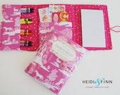 NEW Crayon Wallets coloring wallets GIRL styles set 2 , drawing sets art kits