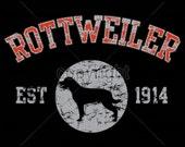 ADULT T Shirt Rottweiler Dog Puff Art Applique Dog Print 17429