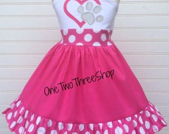 Custom Boutique Clothing Paw Patrol girl Jumper  Dress