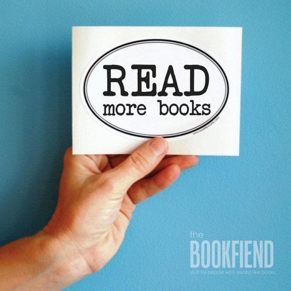 read more books bumper sticker