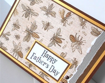 Fathers Day Greeting Cards:  Handmade Blank Note Card - The Collector