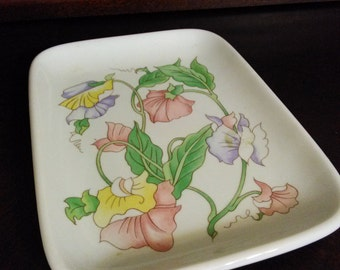 Vintage-Rectangular Tray-Dish-Decorative Plate-Fine China-Ben Rickert Inc.-Made in Japan