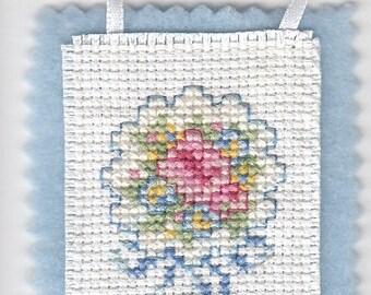 Wedding Bouquet Cross Stitch Ornament