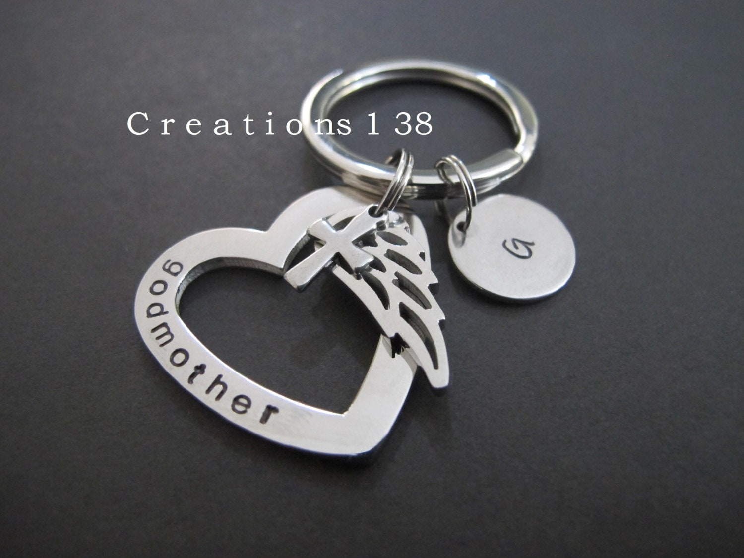 Godmother Gift Godparent Gift Personalized Gift For: Godmother Gift-Personalized Baptism Keychain-Godparent