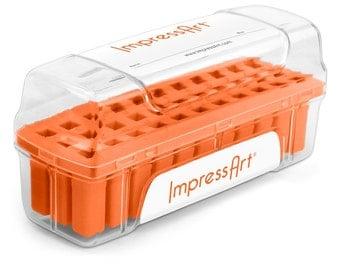 Impressart Metal Stamp Set Storage Case-Orange- Color-3mm size slot-33 Slots-Metal Supply Chick-ScS330-3m