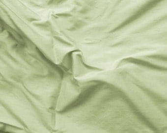 silk dupioni fabric - pale green 100% pure silk - fat quarter - sld106