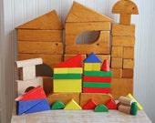 Vintage Block Set, Wooden Blocks, Childrens Blocks, Building Block Set, Retro Kids Toys, 1960s Mid Century Block Set, Vintage Kids Gift