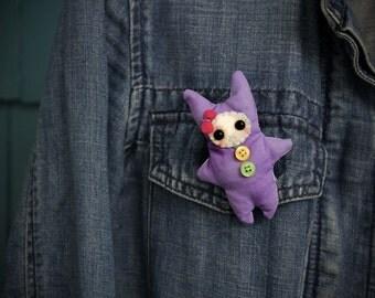 Plush Micro Monster Brooch