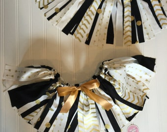 New Year Tutu Skirt for Girls - Gold and Black Holiday Outfit - New Year Little Girl Outfit - New Year Tutu - Gold Skirt for Girls -