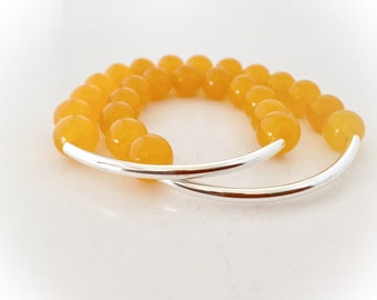 Yellow Stretch Wrap Bracelet