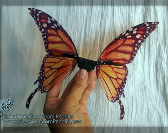 Fairy Doll Wings - Handmade - Butterfly - Basic Monarch Large with tails