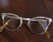 Reserved for Michele ~~~Vintage Cateye Glasses, Cateye Frames, Eyeglasses, 12 K GF, 1/10, Sunglass Frames, Vintage Aluminum Frames, Atomic,