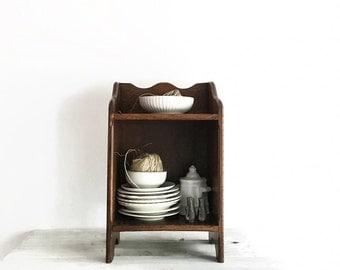 Modern Farmhouse Antique English Oak Shelf, Small Wood Shelf