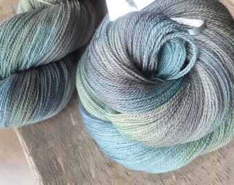 Soft Reflections -  Hand Dyed Merino Silk Lace Yarn