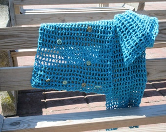 Cotton Hand Crafted Crochet Scarf Wrap