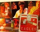 "ON SALE The Eagles Vinyl Record Album 1970s SoCal Country Rock Pop Don Henley 2LP ""Live"" (orig. 1980 Elektra w/""Hotel California"", +2-Sided"