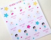 Tooth Fairy Visit Decorative Matte paper planner stickers - perfect for all planners, Happy Planner, #30
