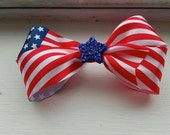 4th of July Dog Top Knot Hair Bow