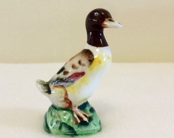 Vintage Mallard Duck Figurine Made in Japan Mid Century Wildlife Collectible
