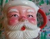 adorable rosy cheeks porcelain santa mug