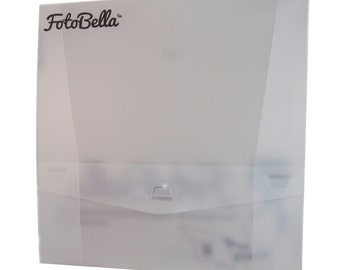 FotoBella Clear Storage Box for 12x12 Paper and Projects - Bundle of 4