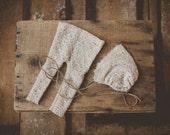 Soft Brown Pants and bonnet set