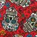 Tatoo skull  - rockabillie - day of the dead - medical scrub - dental health care vet -scrub top