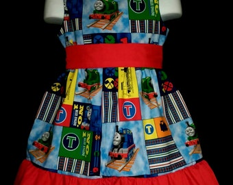 Sleeveless Summer Dress Thomas The Train Boutique 12/18M 24M/2T 3T/4T 5/6 Pageant New