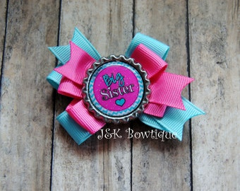 Big or little Sister..classic layered bow...hair bow